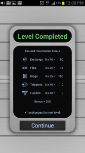 aMathing Level Complete Scoring