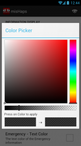 misHaps - Font colour picker