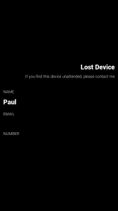 misHaps - Lost device screen