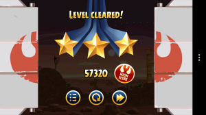 Angry Birds Star Wars - Level cleared