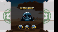 Angry Birds Star Wars - Level failed
