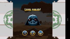 Angry Birds Star Wars - Level failed