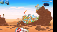 Angry Birds Star Wars - Millenium Falcon in attack mode