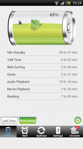 Battery Saver Android Free - Time remaining