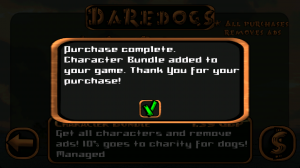 Daredogs - Purchase complete