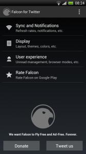 Falcon - Settings