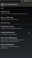 Falcon - Sync and notifications settings