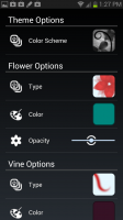Flowering Vine Settings