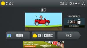Hill Climb Racing - Select vehicle