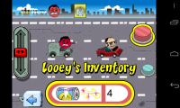 Left Lane Looey Road Rage Racing - Inventory features all your weapons, bonuses and boosts to be used in-game