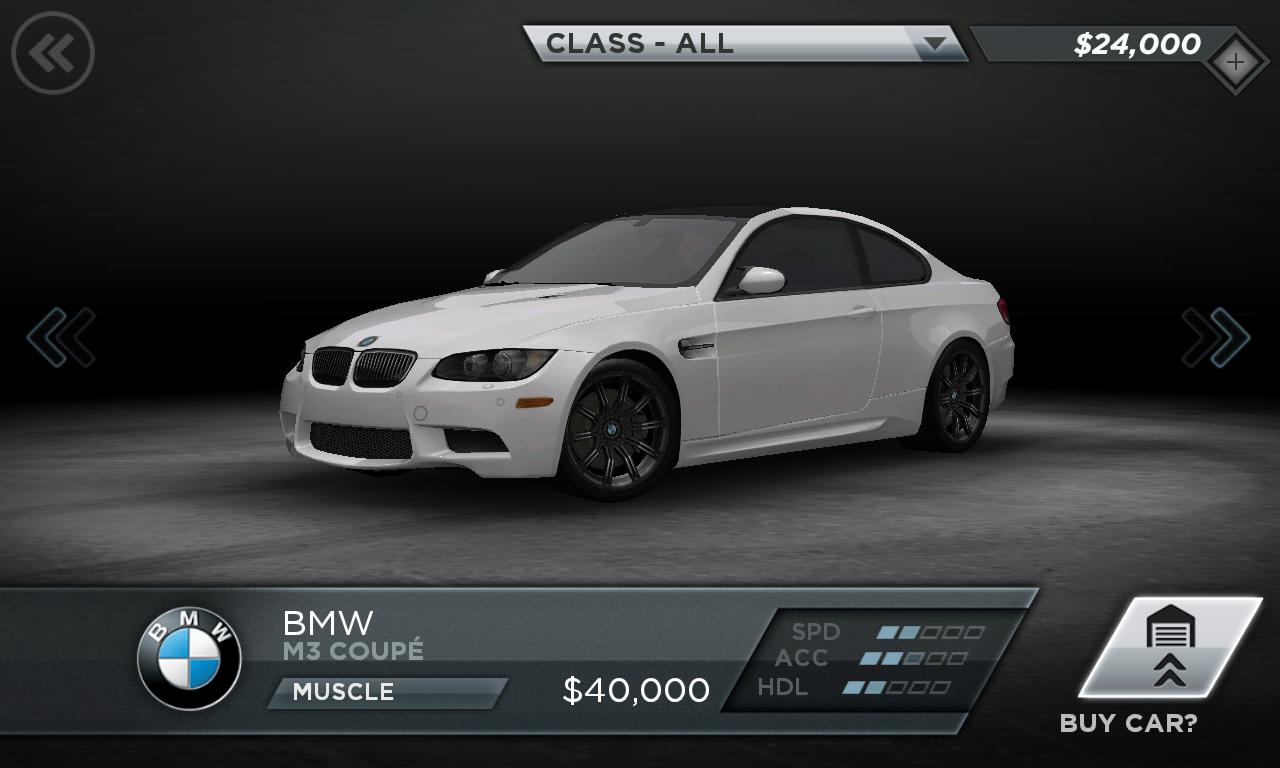 Need for Speed Most Wanted BMW M3 Coupe - AndroidTapp