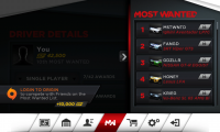 Need for Speed Most Wanted List