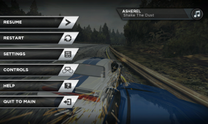 Need for Speed Most Wanted Pause Menu Options