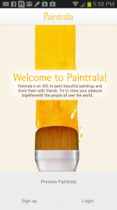 Paintrala Welcome Screen