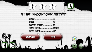 Paper Zombie - End of level scores