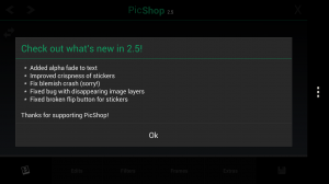 PicShop Photo Editor - What's new