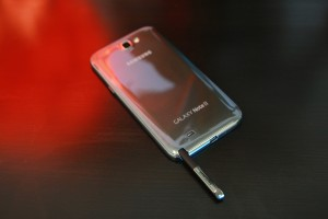 Samsung Galaxy Note II with S Pen Exposed