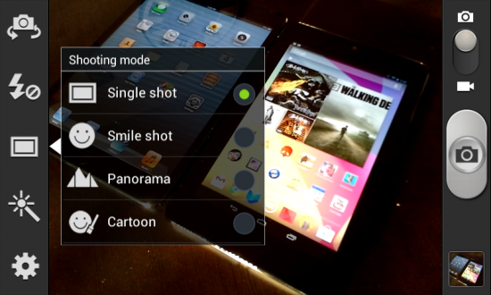 Samsung Galaxy Reverb Camera Shooting Modes