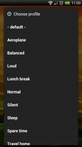 Smart Volume Control + - Select profile