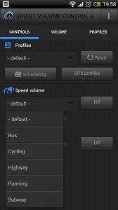 Smart Volume Control + - Speed volume settings