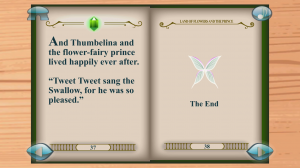 Thumbelina Popup Book - End of book