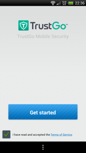 TrustGo Antivirus - Start screen