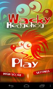 Wacky Hedgehog Jump - Menu