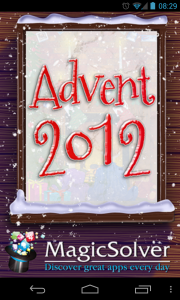 Advent 2012 25 Christmas Apps - Splash screen
