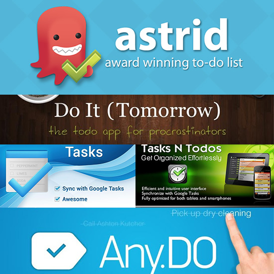 5 Best To Do Lists Android Apps