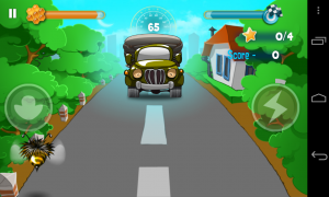 Bumblebee Race - Some vehicales require you to dodge far more