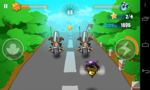 Bumblebee Race - Use the helmets to crash through vehicles