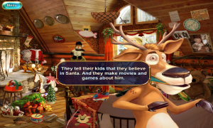 Christmasville Missing Santa Chatting with the Reindeer