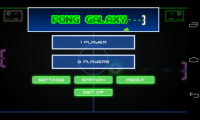 Pong Galaxy- Menu