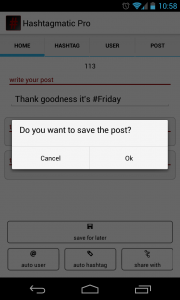 Hashtagmatic - Save post in Pro version