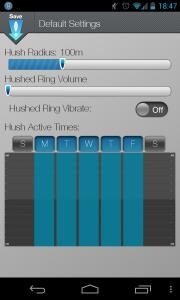 Here!hush - Adjust radius