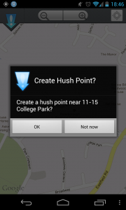 Here!hush - Create new point