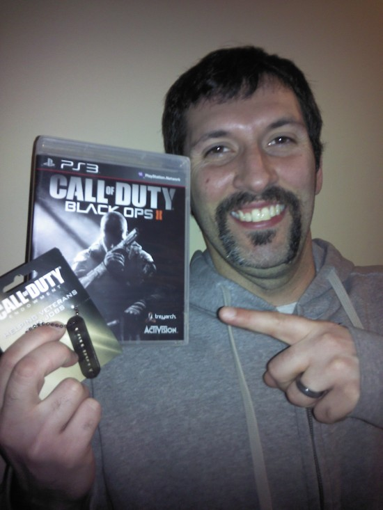 Kevin - Won Call of Duty Black Ops II for PlayStation 3 and Collectors Dog Tag in #25DaysOfGiveaways 2012
