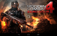 Modern Combat 4 Zero Hour Splash Screen