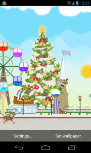 My Christmas Wonderland - Loads of interactive effects you can trigger by touching the screen