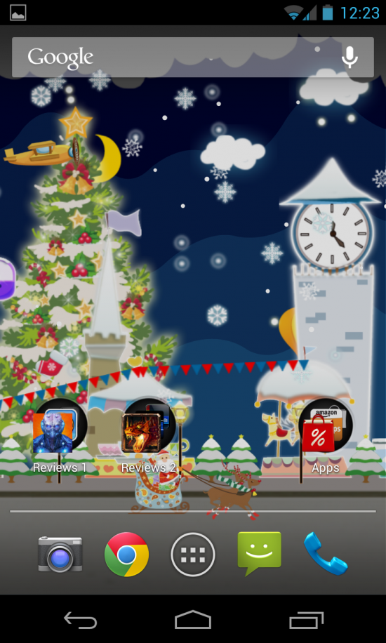 My Christmas Wonderland – get into the holiday spirit with this festive & novel live wallpaper app for your homescreen