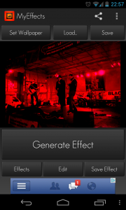 My Effects - Tap Generate Effect to create a new filter