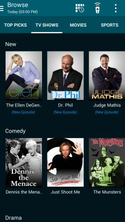 Peel Smart Remote - Current TV Shows