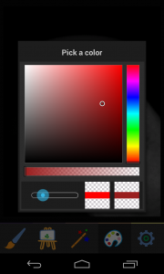 Photo Painter - Choose paint colour