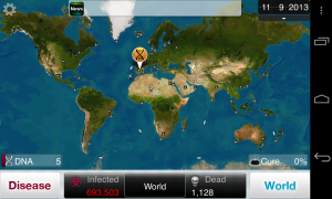 Plague Inc - Typical gameplay screens (1)