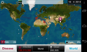 Plague Inc - Typical gameplay screens (2)