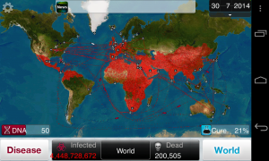 Plague Inc - Typical gameplay screens (3)