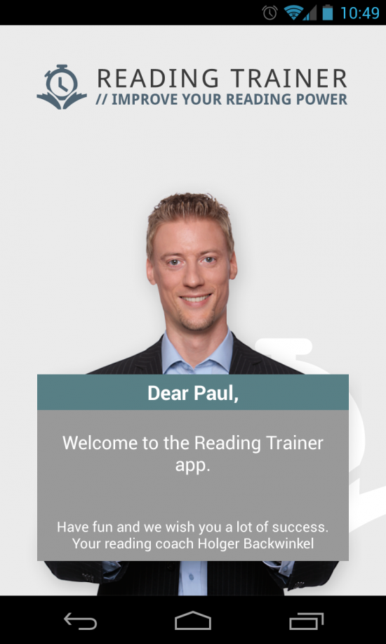 Reading Trainer – an educational app to improve reading speed & comprehension