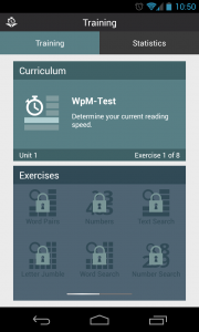 Reading Trainer - New test