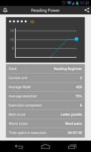 Reading Trainer - Profile