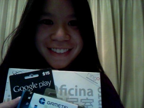 Sheri Lee - Won Gametel gaming controller, RingO car-wall mount for iPad, and $15 Google Play gift card